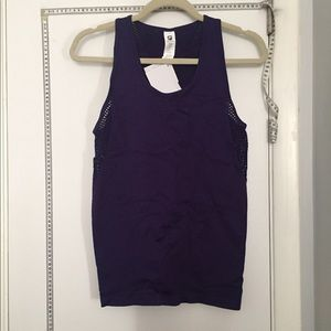Fabletics purple mesh tank top (medium) NWT